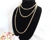 "Vintage 60"" Gold Tone Chain Long and Lovely"