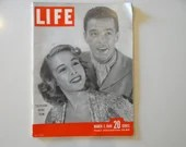 1949 Life Magazine, March 7,  Television Review Team - Marge and Gower, dance Champions - Churchill - Gary Cooper