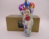 "Vintage Kurt Adler Polonaise Hand Blown Glass Christmas Ornament ""Betty Boop Year 2000"" AP 1165 in Original Box"
