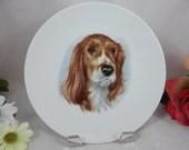 Vintage Royal Porzellan Bavaria Germany K.P.M. Dog Plate