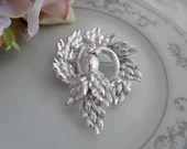 Vintage Acorn and Leaves Brooch Pin on a ST Setting - Lovely Elegant Brooch