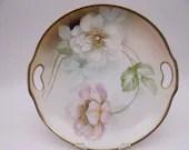 Vintage 1900s Hand Embellished Erdmann Schlegelmilch Prussia Germany Cake or Serving Plate