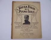1906 Sousa Folio No.2 Piano Solo - The Favorite Two-Steps Marches, Waltzes, Lancers & Dances by John Philip Sousa