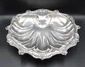 """Beautiful Poole Old English Silverplate 16"""" by 14.5"""" Shell Bowl Classic and Elegant Serving Bowl - Gorgeous Centerpiece Shell Bowl"""