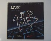 """Plays Well 1985 First US Pressing Capitol Records Maze Frankie Beverly """"Can't Stop the Love"""" ST-12377 Vinyl LP Record Album Soul Jazz Funk"""