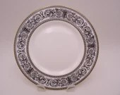 "Vintage Royal Doulton Mid Century English Bone China ""Baronet"" Salad Plate - 8 Available"