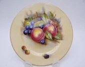 """Vintage Aynsley English Bone China Teacup """"Orchard Gold' Bread and Butter Plate Signed """"D.Jones""""  - 6 Available"""