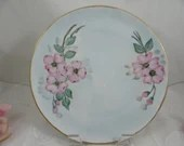 1920s Vintage Schumann Bavaria Hand Painted Artist Signed Pink Flower Plate - Gorgeous
