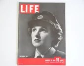 """Vintage 1942 Life Magazine January 26 WWII Wartime Issue """"This Above All"""" Joy Frankau WAAF - Joe Louis - Carole Lombard - Jane Russell"""