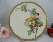 """1890s Factory Decorated T&V Tressemann and Vogt Limoges France Hand Painted Artist Signed """"Lefort"""" New Palissy Plate"""