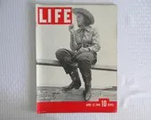 """Vintage 1940 Life Magazine Wartime Issue April 22 """"Dude Outfit"""" - War in  Scandanavia"""