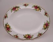 Gorgeous Vintage Royal Albert Old Country Roses Oval Serving Platter