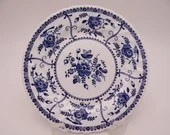 """Vintage Johnson Bros  English Bone China Blue and White Bread and Butter Plate """"Indies""""  - 4 Available"""