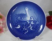 1973 Bing and Grondahl B&G Mothers Day Mors Tag Duck and Ducklings Mother's Day  Plate
