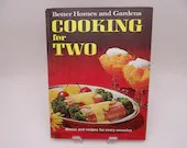 """1969 Better Homes & Gardens """"Cooking for Two"""" Mid Century Hardcover Cookbook"""