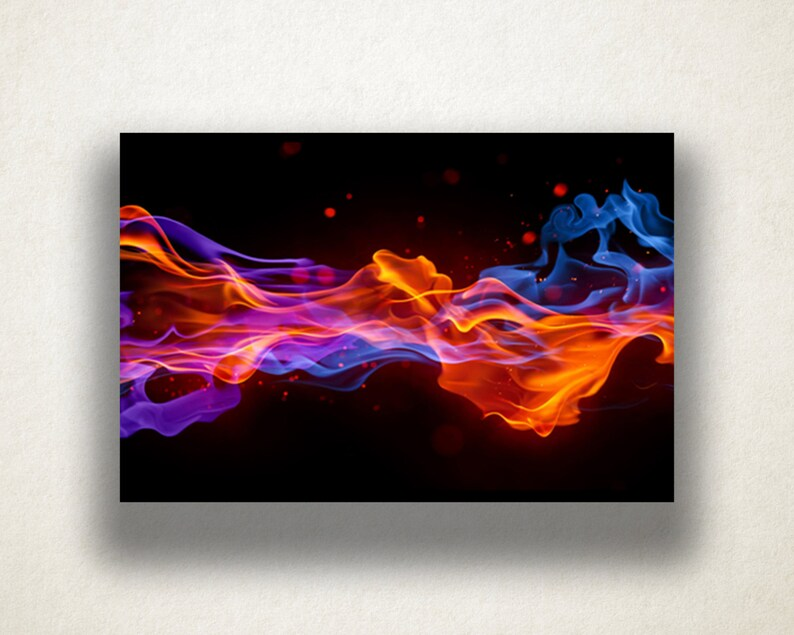 abstract flames canvas art