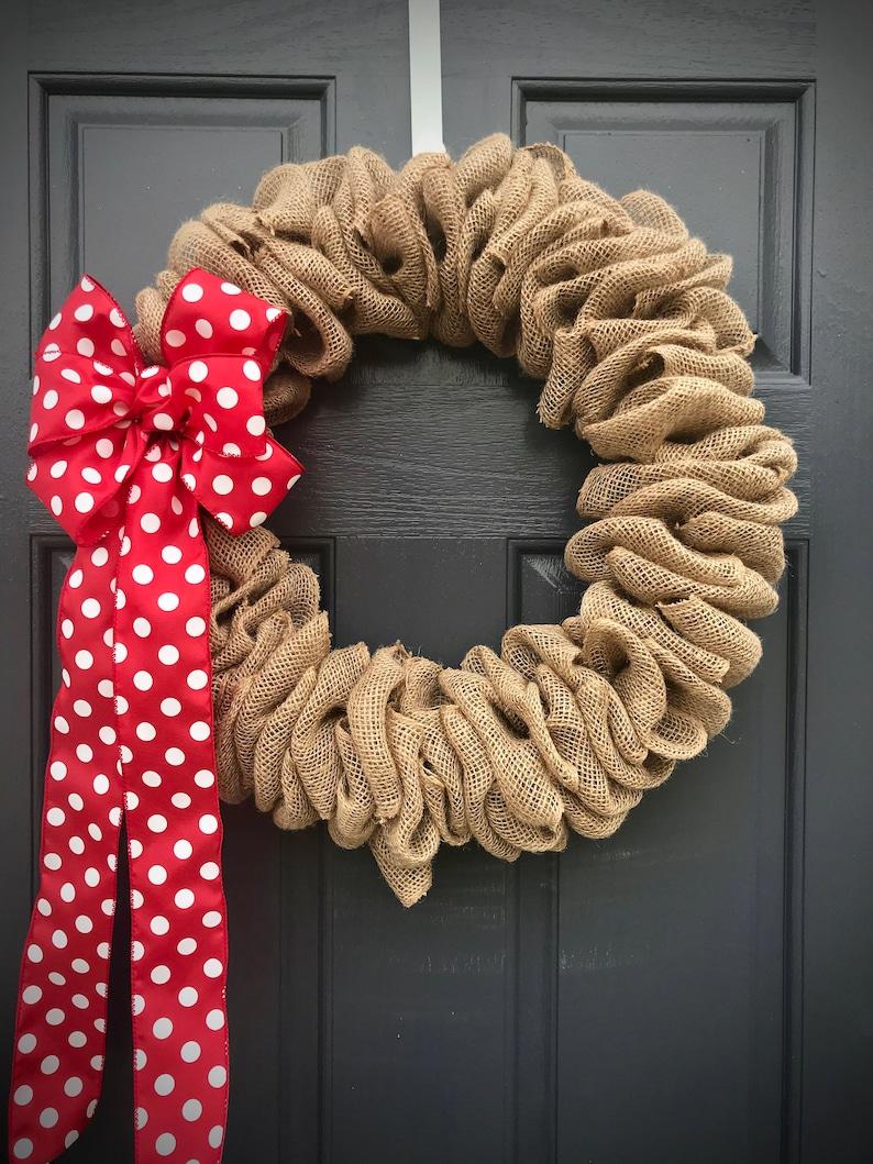 burlap wreath fun wreaths