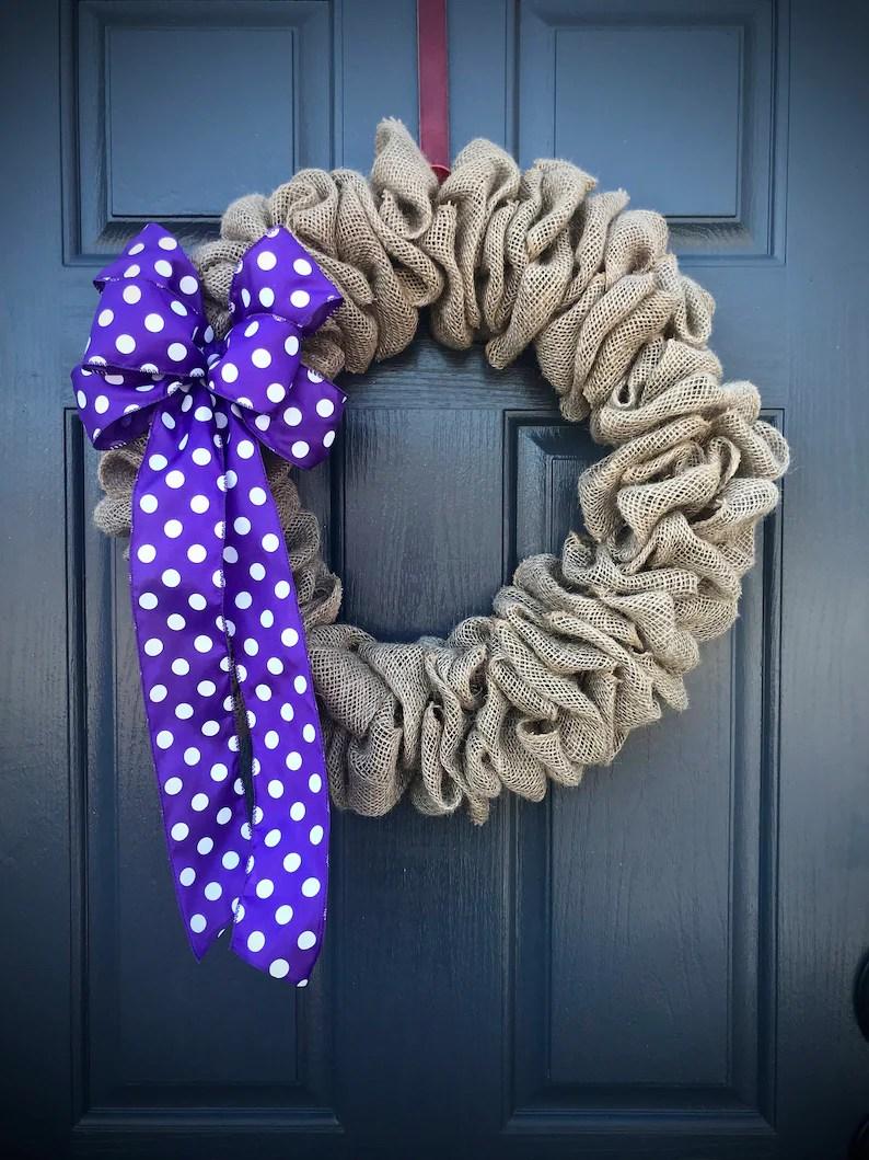natural burlap wreath fun