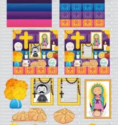 clipart altar for the dead altar de muertos day of the dead d a de muertos png images set 146 [ 573 x 2127 Pixel ]