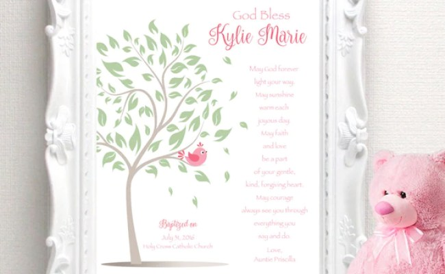 Items Similar To Baptism Gift Personalized Christening
