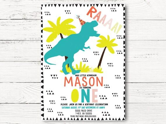 dinosaur birthday invitation dinosaur