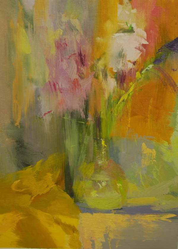 Colorful Abstract Painting Flowers Art Contemporary