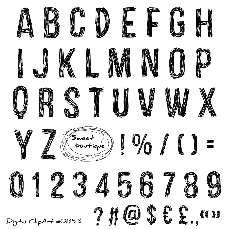 Black Alphabet Font Letters Clip Art Black Alphabet Black