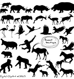 wild animal silhouettes clipart silhouettes clipart clip art animal silhouette clip art monkey animal digital silhouettes clip art 0865 [ 1500 x 1499 Pixel ]