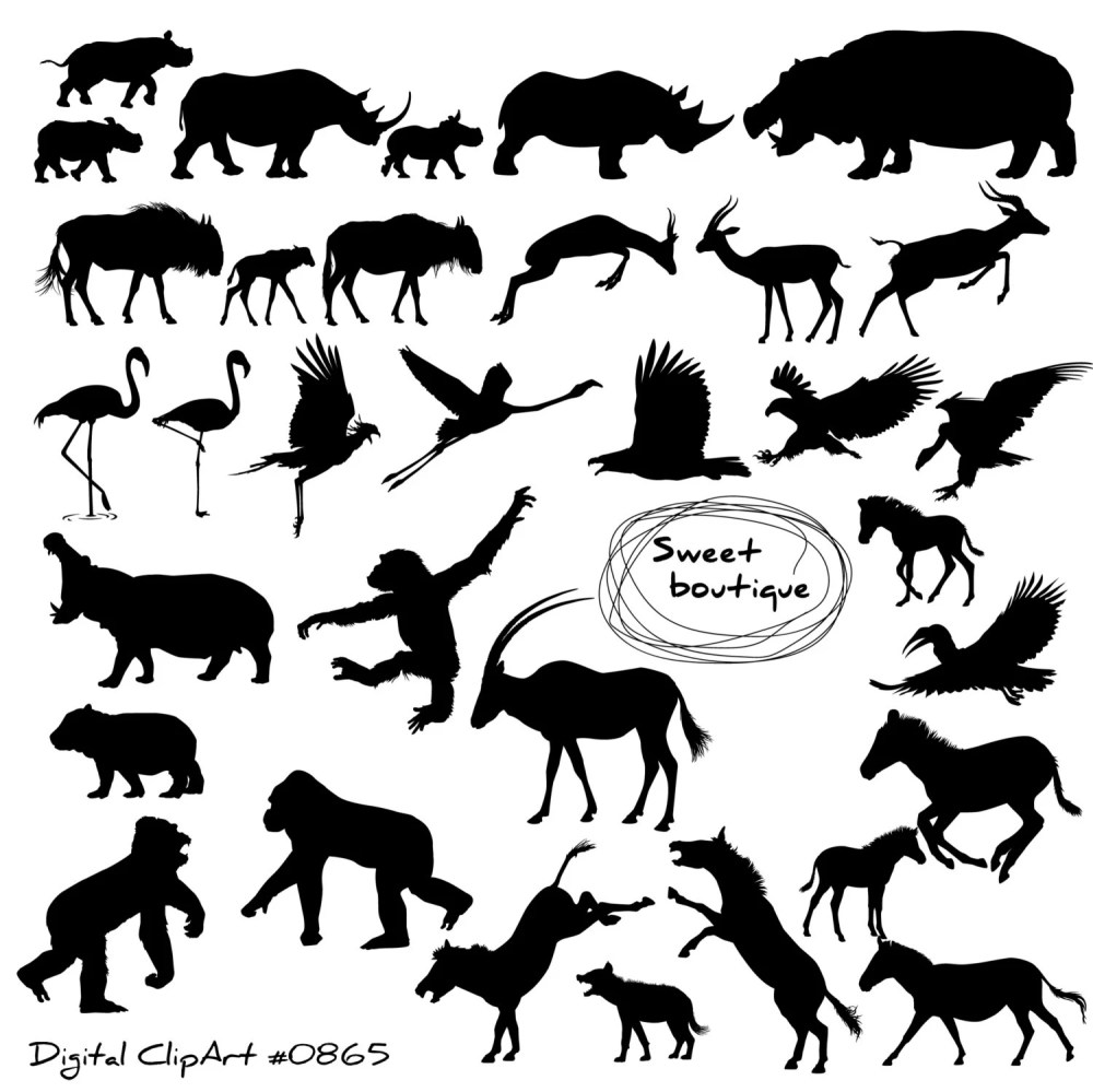 medium resolution of wild animal silhouettes clipart silhouettes clipart clip art animal silhouette clip art monkey animal digital silhouettes clip art 0865