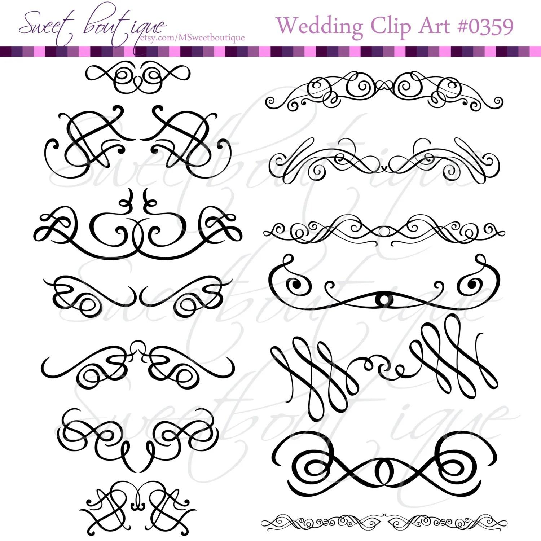 Calligraphy Clip Art Clipart Diy Wedding Invitation