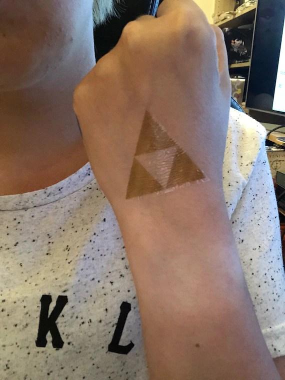 Triforce Tattoo : triforce, tattoo, Legende, Zelda, Triforce, Tattoo