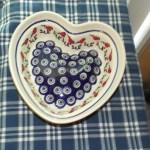 Polish Pottery Heart Country Farmhouse Decor Boleslawiec Poland