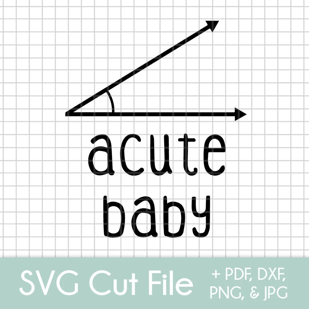 Acute Baby SVG Cut File Bundle  Etsy