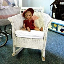 1920s Rocking Chair Hanging Bubble Under 100 Child S Vintage White Wicker From The Etsy Image 0