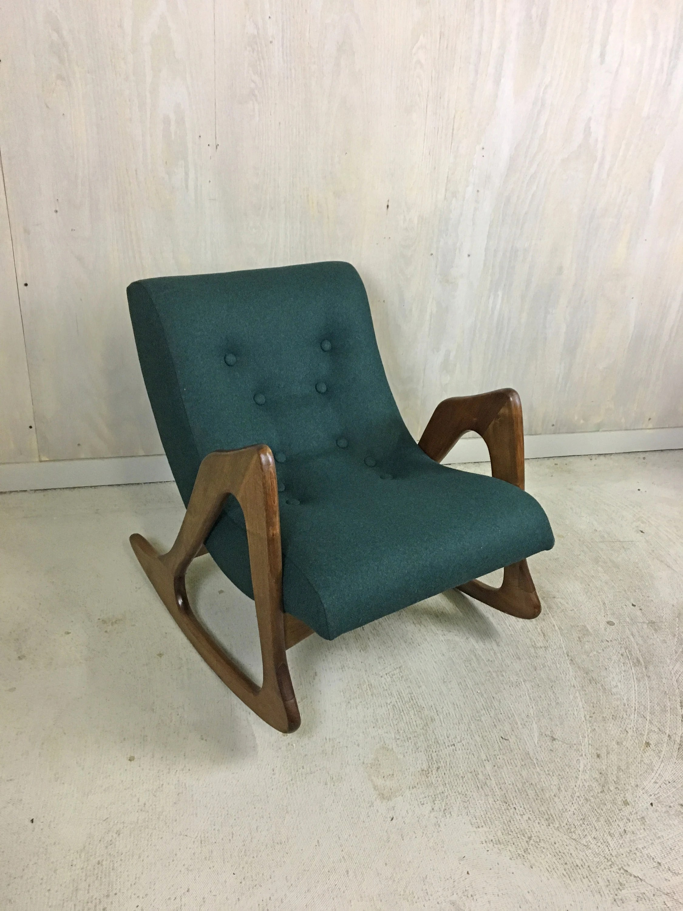 adrian pearsall rocking chair with dildo upholstered for craft associates etsy 50