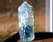 Rainbow Fluorite Crystal Tower, Blue Fluorite Crystal Point, Mini Crystal for Altar and Grids ~2057