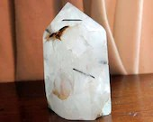 Tourmalated Quartz Tower, Quartz Crystals, Black Tourmaline in Quartz ~1610