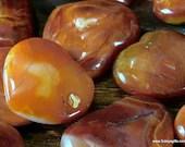 Burnt Orange Agate Worry Stone, Carnelian Heart Shaped Crystal, Sacral Chakra Palm Stone
