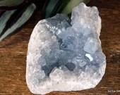 Celestite Geode Cluster, Ice Blue Crystal Cluster, Celestite Crystal ~2119