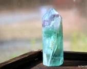 Fluorite, Mini Fluorite Tower, Rainbow Fluorite, Altar Tool, Crystal Tower, Polished Fluorite Wand, Crystal Point, Green Fluorite ~2076