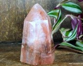 Fire Quartz, Hematoid Quartz Crystal Tower, Fire Quartz Wand, Root Chakra Crystal ~1837