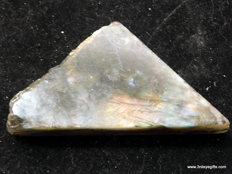 Labradorite Stone, Blue a...