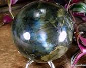 Labradorite Crystal Ball Labradorite Sphere, #1800