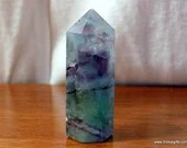 Rainbow Fluorite Crystal Point ~1542