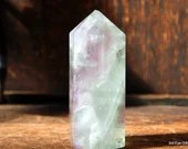 Pink Fluorite Tower, Rainbow Fluorite, Altar Tool, Fluorite Wand, Crystal Tower, Fluorite, Crystal Point, Green Fluorite ~2067