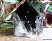 Black Smoky Quartz Tower, Raw Smoky Quartz, Crystal Tower ~1862