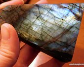 Flashy Rainbow Labradorite Raw Labradorite Stone, Golden Labradorite Crystals, Polished Labradorite ~1690