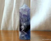Purple Fluorite Crystal Tower Rainbow Crystal ~1540