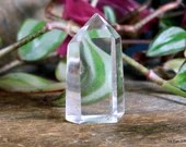 Small Clear Quartz Crystal Tower, Quartz Tower, Polished Quartz ~1960