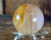 Yellow Fire Quartz Sphere, Hematoid Quartz Crystal ~1828